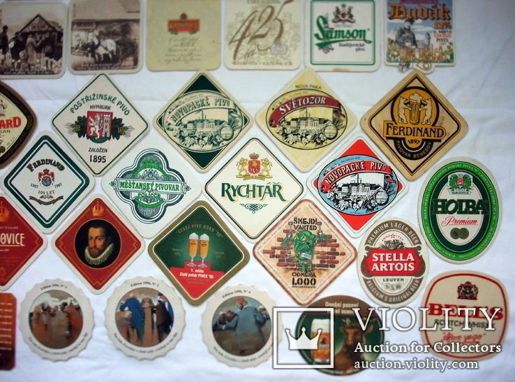 Костеры - бирдекели под пивные кружки и бокалы Чехии и Германии. 56 штук., фото №9