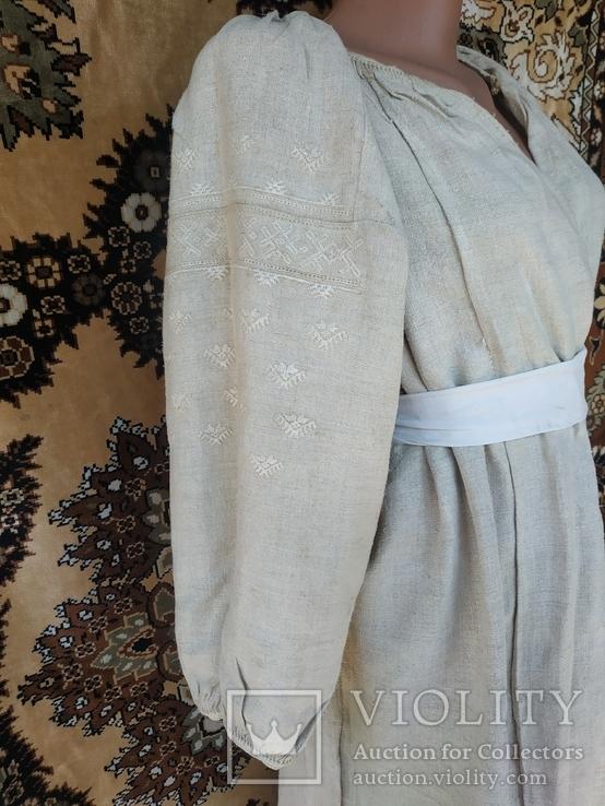 Украинская вышиванка.(Сумщина) белым по белому с вырезанием.
