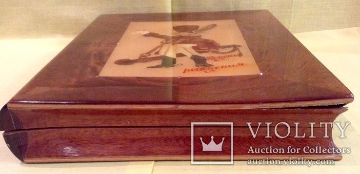 Шкатулка Зайка. Сувенир СССР. Красное дерево. Ручная работа., фото №5