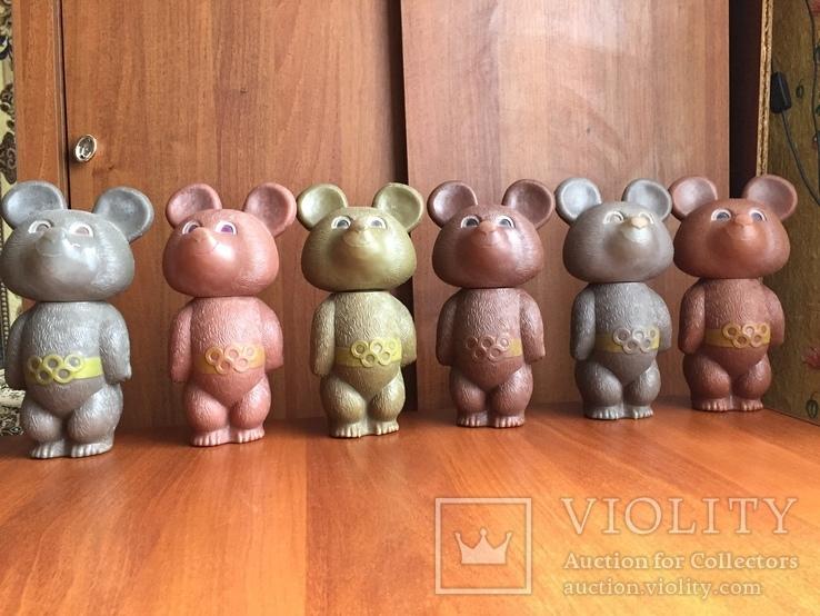 Олимпийские мишки СССР большие 6 штук