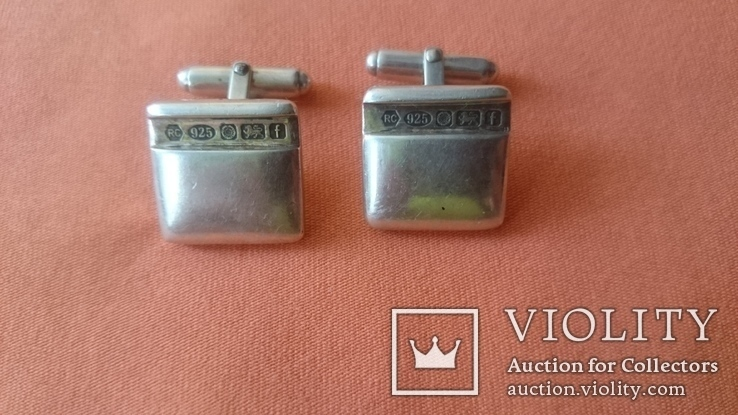 Запонки серебро 925 проба (Англия), фото №2