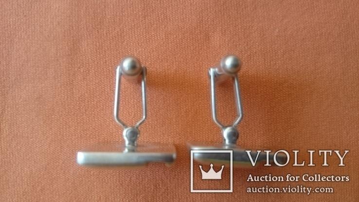 Запонки серебро 925 проба (Англия), фото №5