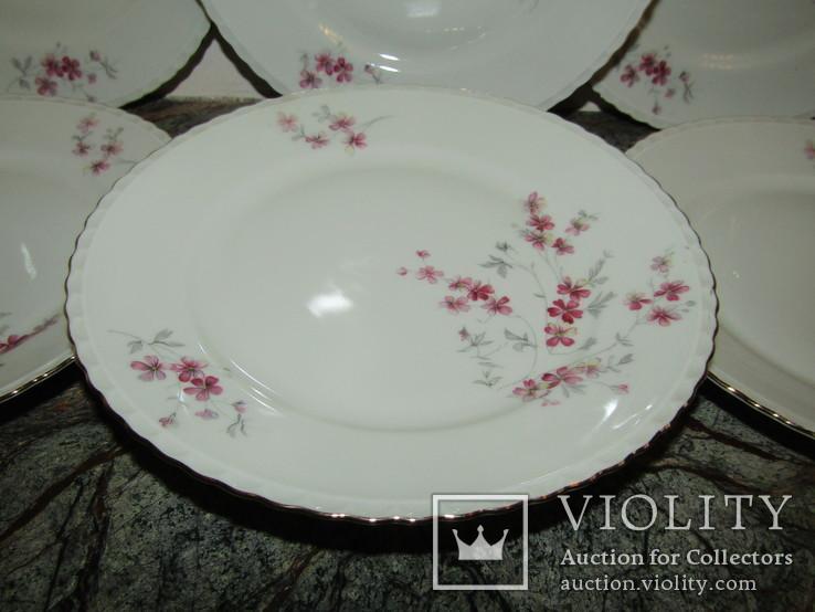 Сервиз чашки блюдца тарелки молочник чайник фарфор золочение Бавария Германия, фото №5