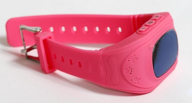 Детские GSM смарт-часы Q50. Розовые, фото №7