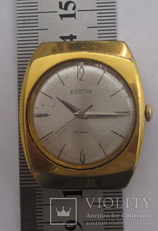 Часы Восток 18 камней СССР Ау 10, фото №2