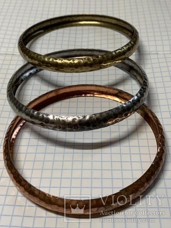 Три металических браслета с Италии, фото №2