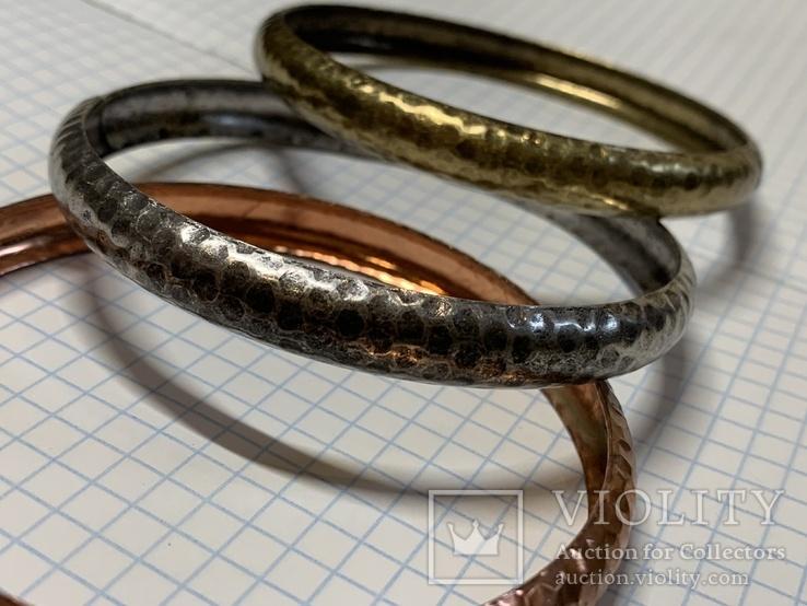 Три металических браслета с Италии, фото №4