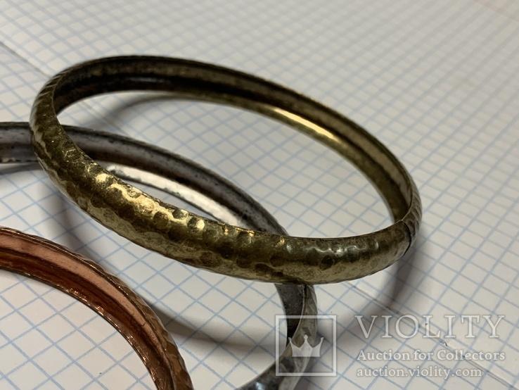 Три металических браслета с Италии, фото №5