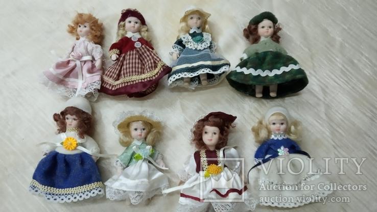 Фарфоровые мини куколки 8шт