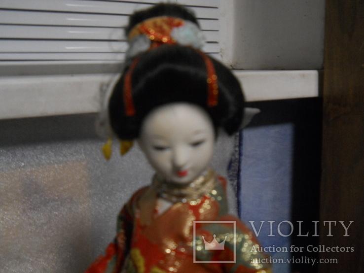 Кукла фарфоровая Китаянка высота 38 см, фото №2