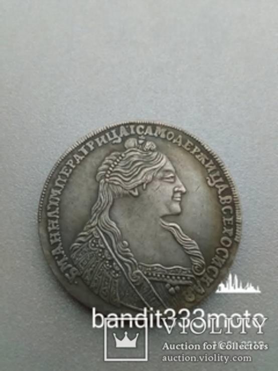 Рубль 1736 года копия редкой серебряной монеты Анны Иоанновны, фото №2