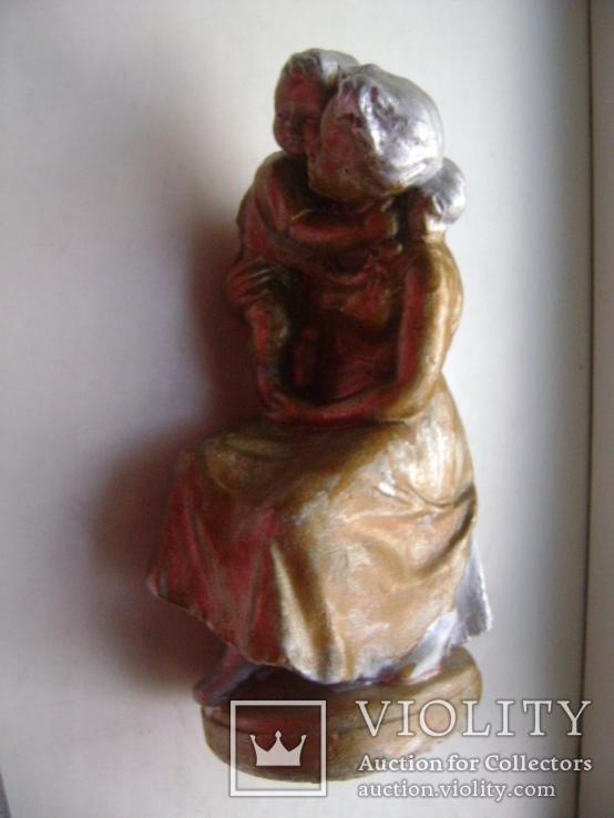 Мама с ребенком (гипс), фото №11