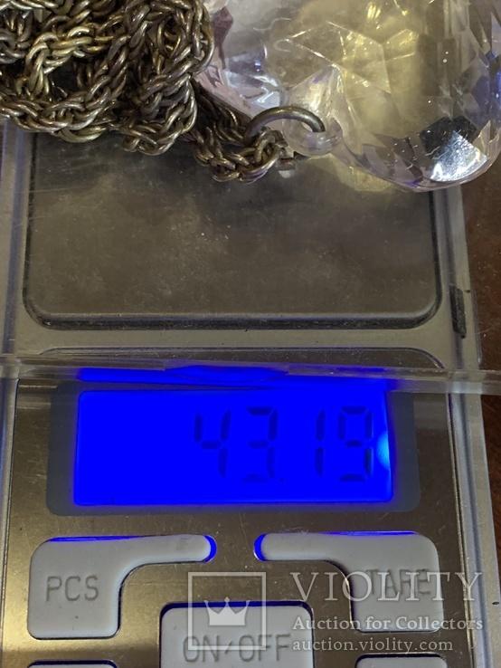 Кулон в виде сердечка на цепочке с италии 43 грамма, фото №6