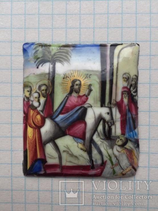 Иконка Финифть Вход Господень В Иерусалим, фото №2