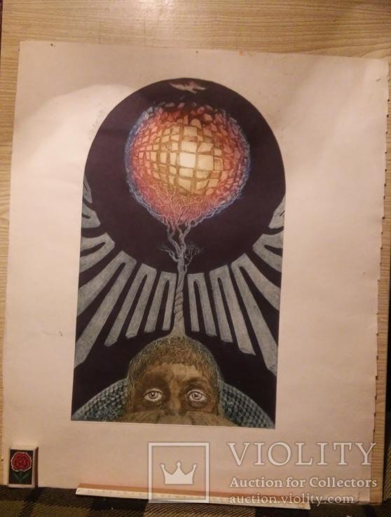 Графика Удовиченко Одесса 1980