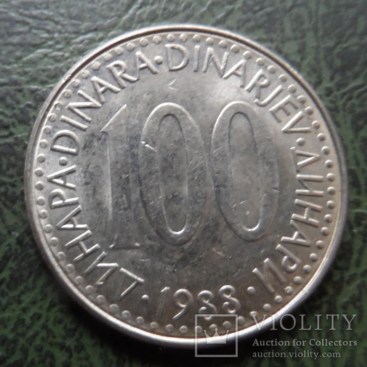 100 динар 1988  Югославия    ($1.6.12)~, фото №2