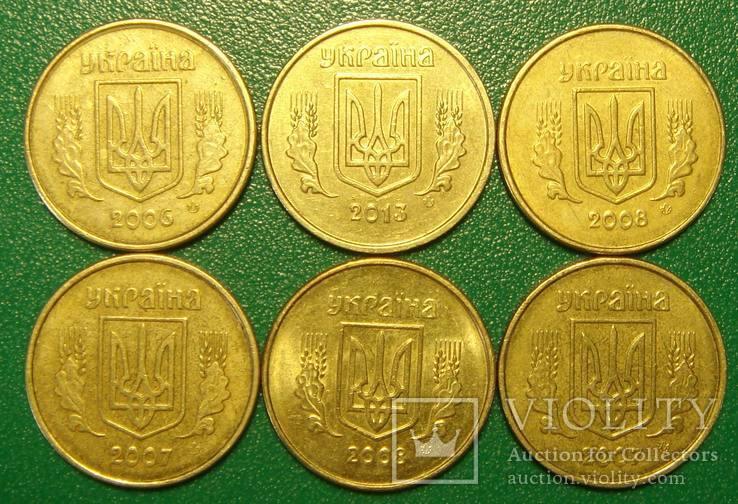 10 коп. 2006, 2007, 2008, 2013, `разные выкрошки реверса`, 6 монет., фото №4