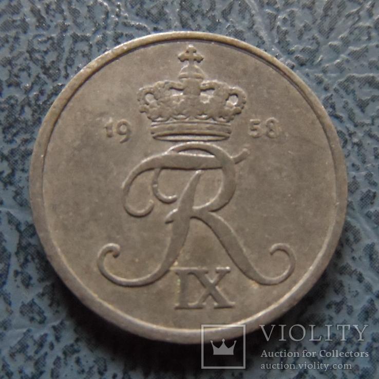 2 эре 1958   Дания    ($2.1.6) ~, фото №3