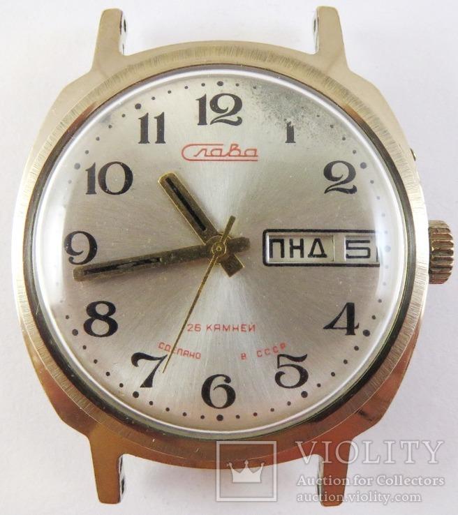 Часы Слава автоподзавод. Позолота AU5, фото №2