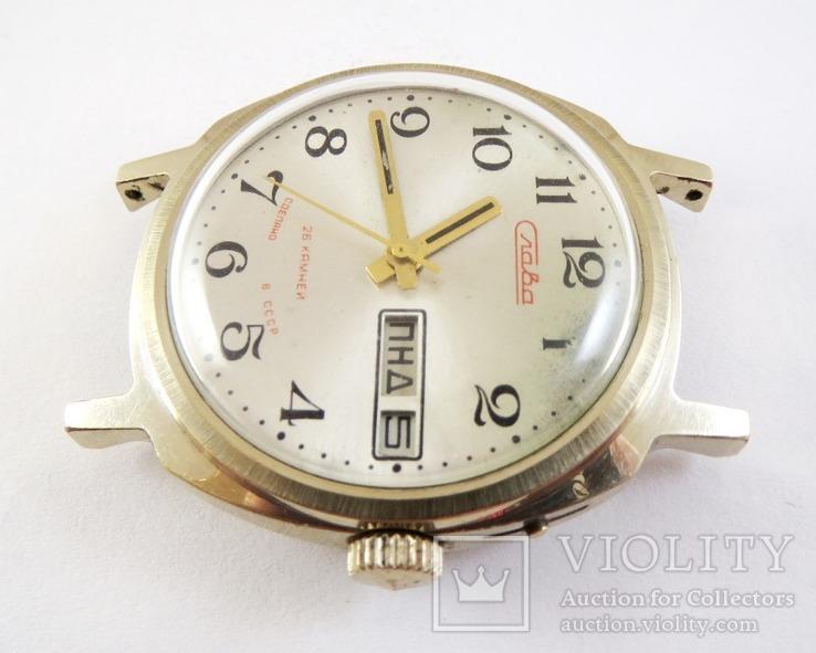 Часы Слава автоподзавод. Позолота AU5, фото №4