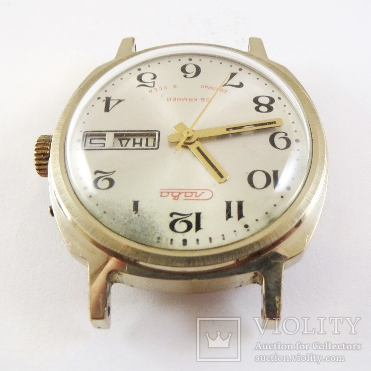 Часы Слава автоподзавод. Позолота AU5, фото №5