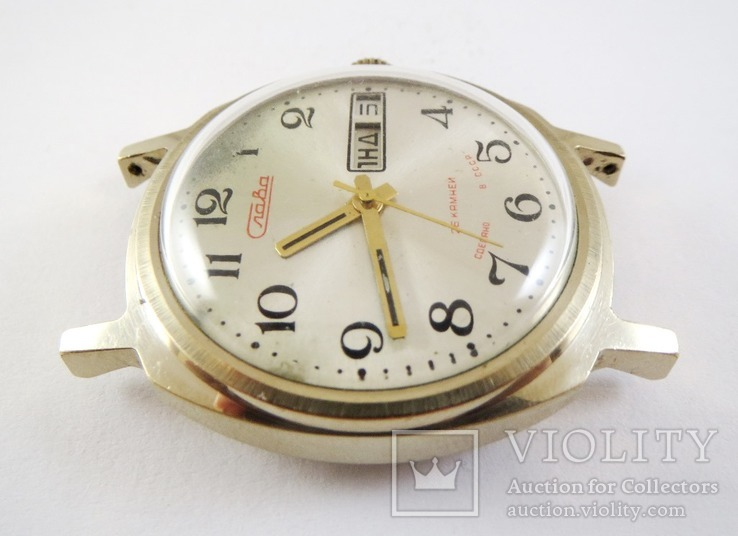 Часы Слава автоподзавод. Позолота AU5, фото №6