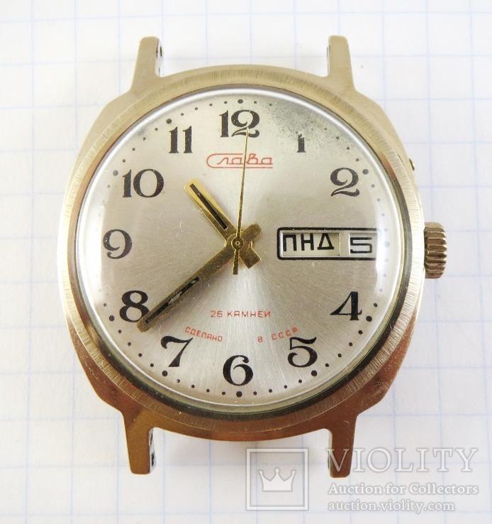Часы Слава автоподзавод. Позолота AU5, фото №13