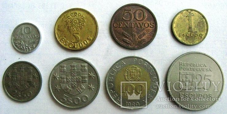 Португалия, набор 10 сентаво - 25 эскудо 1974 - 1989 гг., фото №2