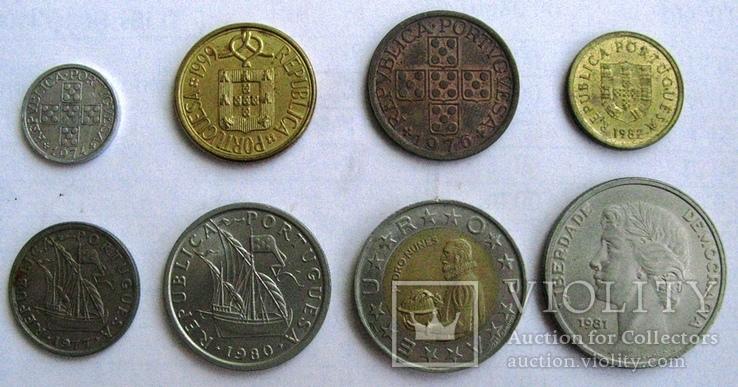 Португалия, набор 10 сентаво - 25 эскудо 1974 - 1989 гг., фото №3