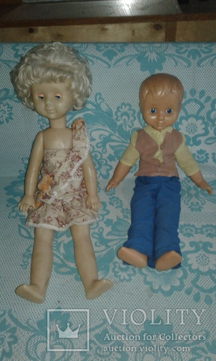 Кукла паричковая СССР 52 см. + кукла мальчик