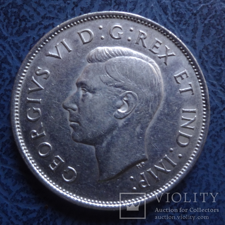 50 центов   1938  Канада  серебро   (2.6.8)~, фото №3