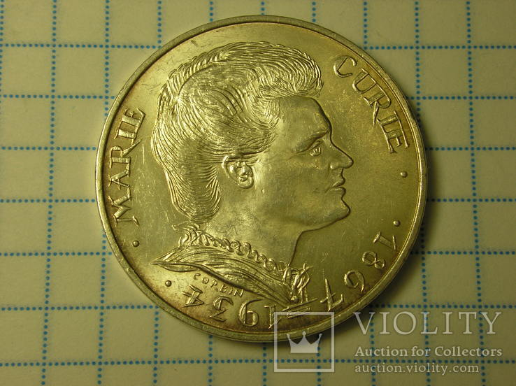 100 франков 1984 Франция, серебро. Памятная.
