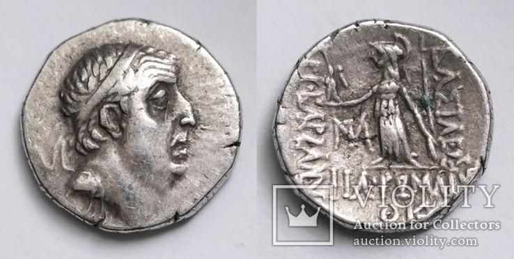 Каппадокійське царство, срібна драхма Аріобарзана I Філоромея, м.Євсебія, 67-66 до н.е.