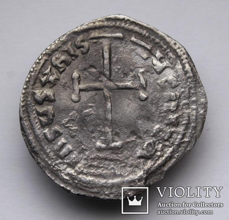 Імператор Лев IV Хозар з сином Костянтином VI, 775-780 р., срібний міліарисій, фото №5