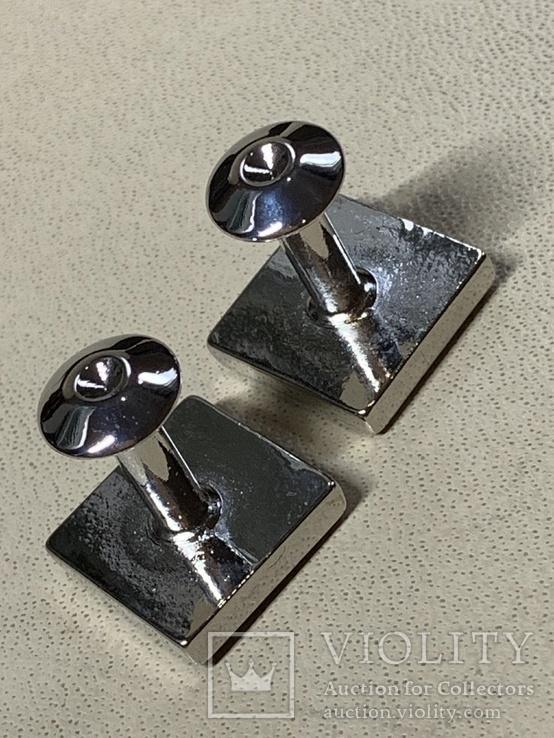 Запонки в родной коробке бренда Brubaker  из США, фото №5