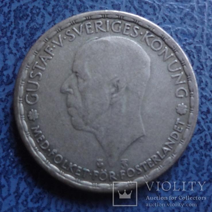 1 крона  1947  Швеция  серебро  (2.7.14)~, фото №3