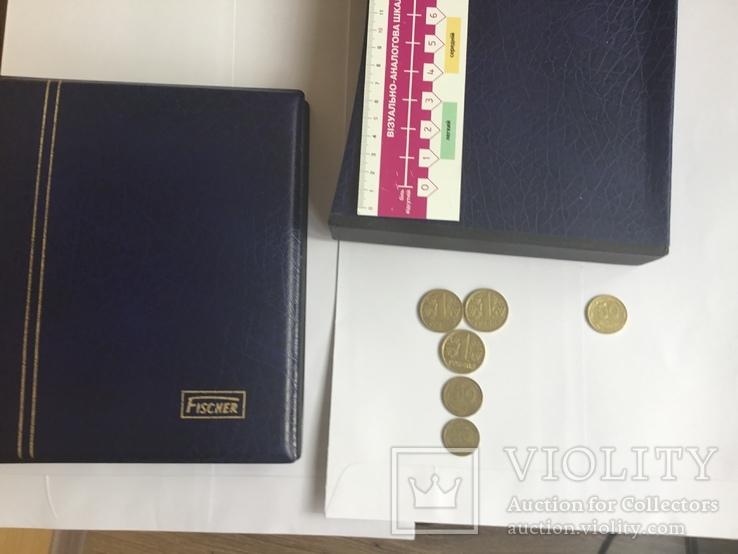 Украина. Монеты 1995 и 1996 года+альбом с футляром