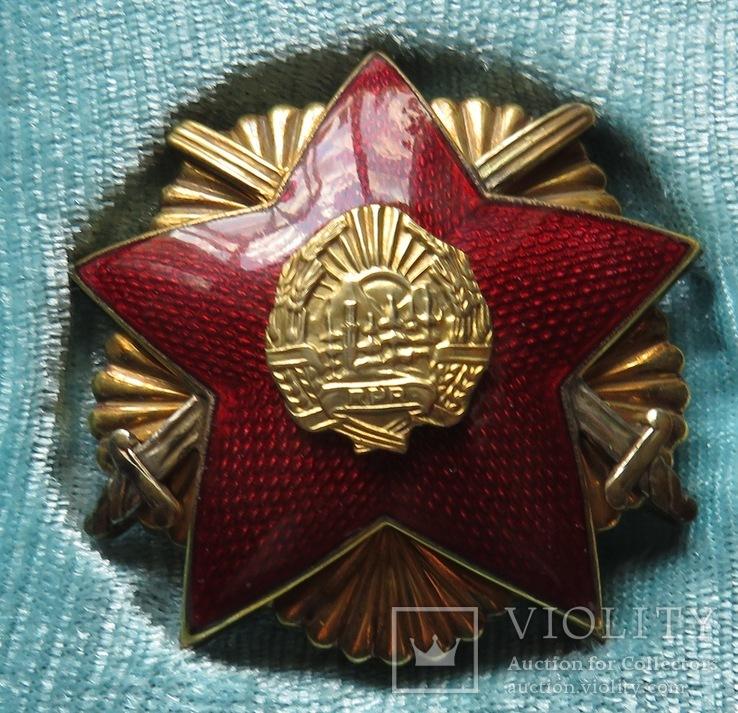 Н. Р.Румыния ''Орден Защита Отечества''I, II, III степени в серебре ., фото №3