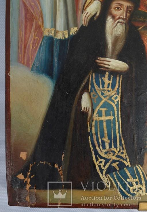 Печерская икона Божией Матери с предстоящими Антонием и Феодосием, photo number 8