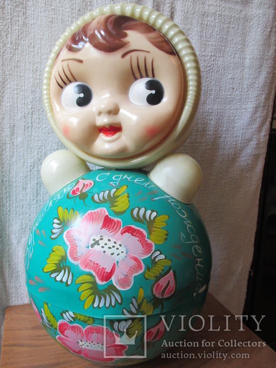 Неваляшка-кукла 40см(поздравительная)