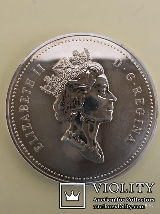 Канадский доллар кубок стенли 1893-1993 год, фото №3