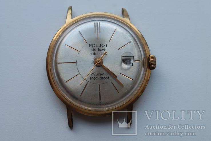 Часы Poljot de luxe, 1 МЧЗ, автоподзавод AU20