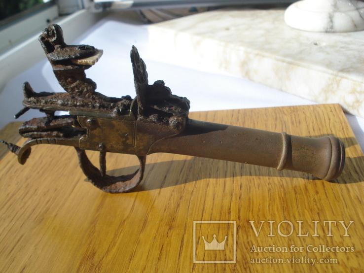 Карманный,бронзовый, Флотский ,пистоль 19 века!Бельгия.