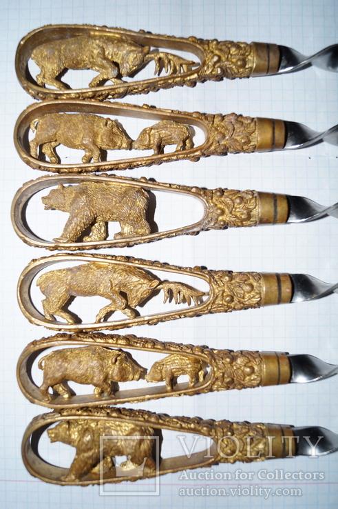 Шампура ручной работы (Бронза), фото №2