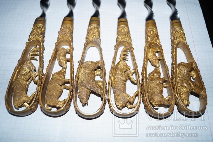 Шампура ручной работы (Бронза), фото №11