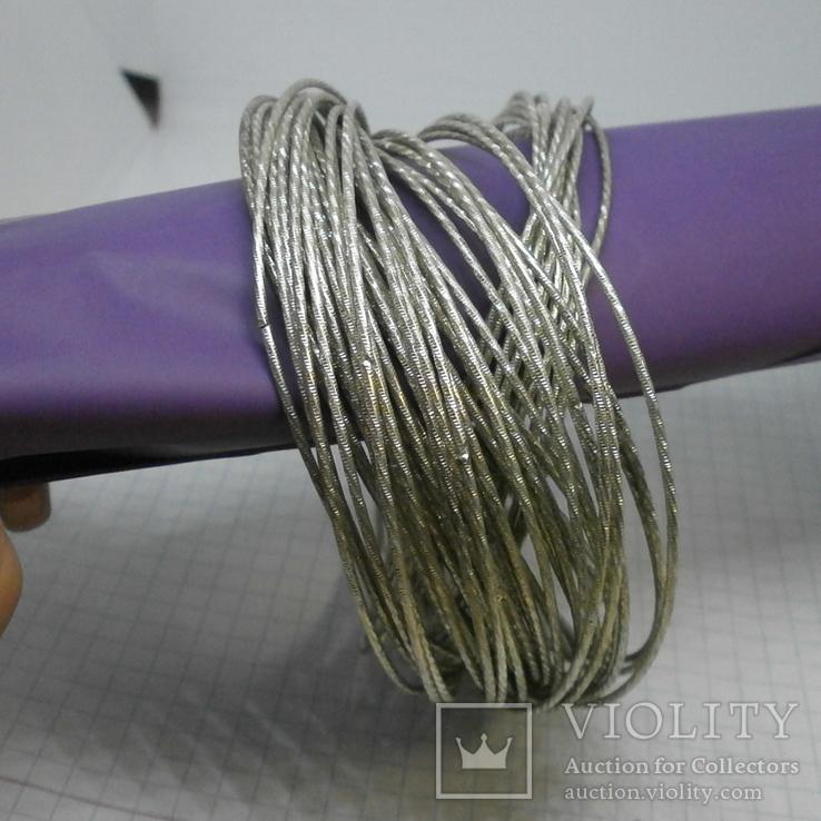 59 тонких браслетов в одной связке, фото №6