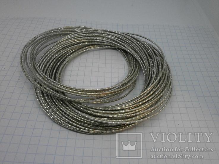 59 тонких браслетов в одной связке, фото №7