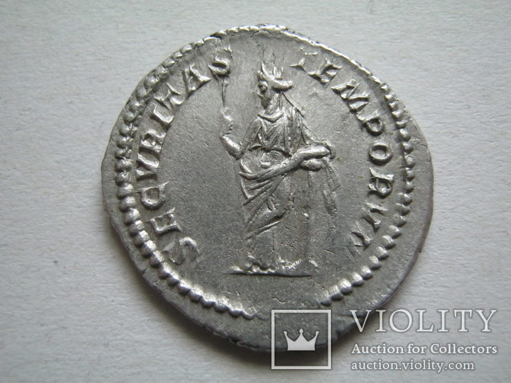 Денарий Макрин (217-218)., фото №3