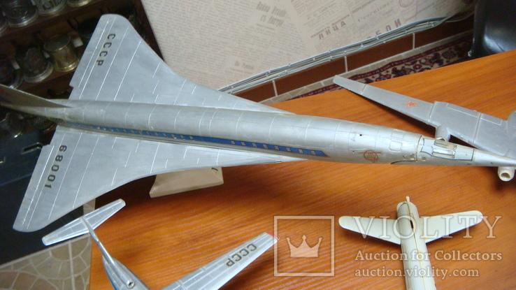 Самолеты СССР, сборная модель, 8 шт, Ту-144, Як-40, Як-24, фото №3