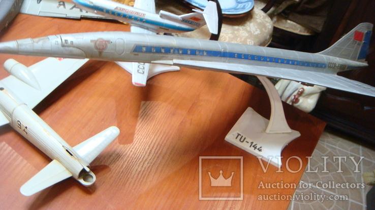 Самолеты СССР, сборная модель, 8 шт, Ту-144, Як-40, Як-24, фото №4